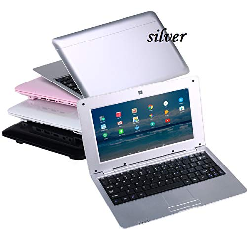 BIGMAC 10 Pouces Mini Ordinateur Portable Android 6.0 Quad Core Netbook 8gb avec WiFi Webcam Netflix Youtube Google Player (Argent)