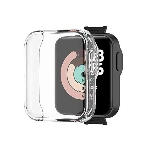 huhan Protector de Reloj Todo Incluido Protector de Pantalla Ultrafino de TPU a Prueba de Polvo Y a Prueba de Caídas Adecuado para Mi Watch Lite O Redmi Watch