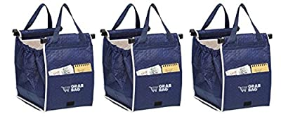 Insulated Reusable Grab Bag Grocery Shopping Tote Holds Up To 40 lbs (3)