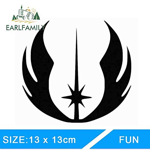 BJDKF 13cm X 13cm Star Wars Jedi Bestel Vinyl Decal Auto Stickers Reflecterende Auto Styling Motorfiets Auto Sticker Accessoires Grijs
