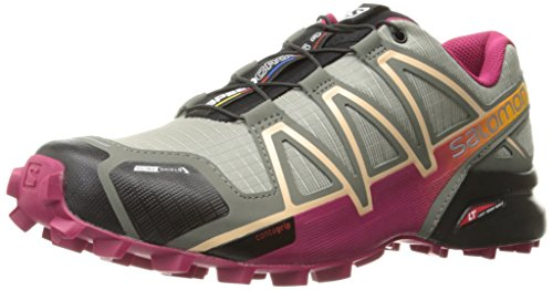 SALOMON Damen Speedcross 4 Cs W Traillaufschuhe, Grau (Shadow/Sangria/Peach Nectar 000), 36 EU