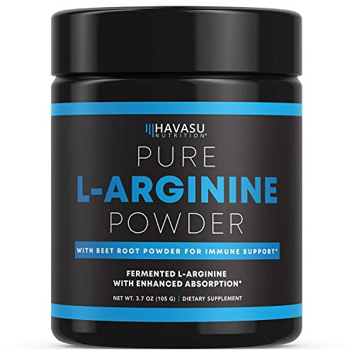 Havasu Nutrition Extra Strength L-Arginine Pre Workout Powder; 1200 mg Nitric Oxide Supplement for...
