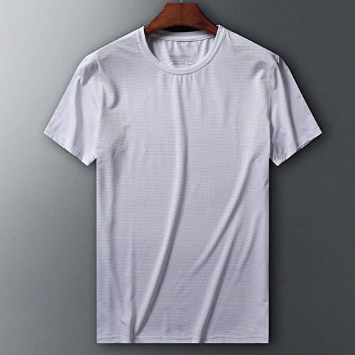MedusaABCZeus Kurzarm Shirt Uv Schutz T-Shirt,Mesh EIS Seide T-Shirt, Herren Plus Size Sportswear-Weiß 4_XL,Poloshirts Damen