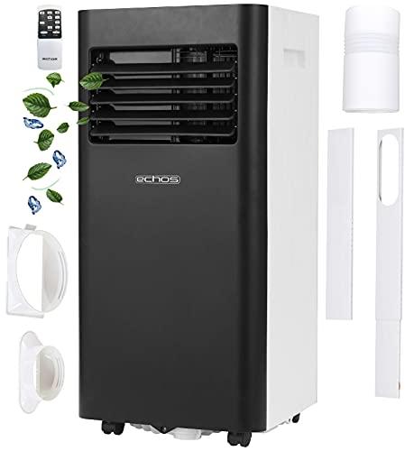 Mobile Klimaanlage mit mobiler App steuerbar | EEK: A | 9000 BTU | 24h Timer | Fernbedienung | Nachtmodus | Fensterkit | 2 Geschwindigkeitsstufen | Aircooler | Klimagerät | Ventilator | Klima Anlage