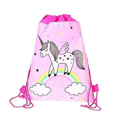 Tela Unicornio Morral del Lazo del Deporte De La Historieta Linda Bolsa De Viaje Saco Bolsa De Almacenamiento De Los Niños No Tejido con Cordón para Niños Niñas
