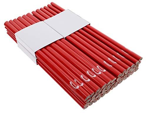 PRODIAMANT Zimmermannsbleistift oval, 250mm lang - Der perfekte Bleistift für Industrie und Handwerk (48 Stück)