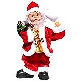 anne210 Muñeco De Papa Noel Musical Bailando De Navidad Juguete De Papa Noel Santa Claus Musical Decoración De Mesa De Navidad Regalo para Niños
