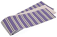 (ソウビエン) 半幅帯 浴衣帯 浴衣用 小紋用 夏着物用 菫色 しじら織り 縞 半巾帯 細帯