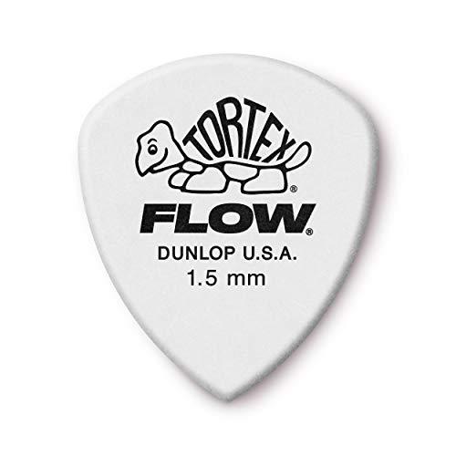 Jim Dunlop Tortex Flow Standard Negro, Color blanco adaptador de cable