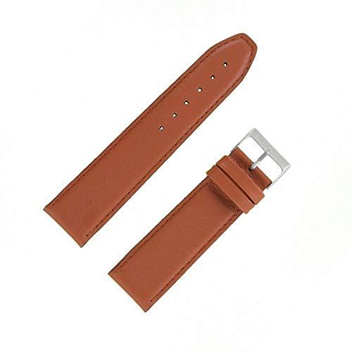 OnWatch - Correa de reloj de piel auténtica de 24 mm, color marrón claro