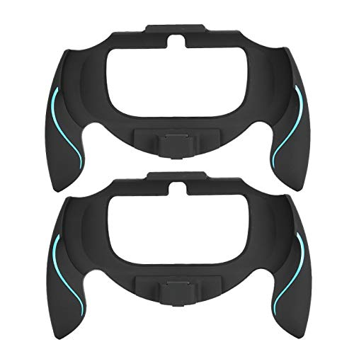 Soporte de Soporte Flexible Empuñadura de Mano, 2 Piezas Cubierta de Empuñadura Curvada para Máquina de Juego para Consola de Juegos PSV1000(Azul)
