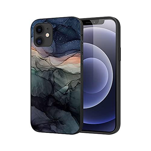 APHT Mármol Phone Funda Compatible con iPhone 5-12 Pro MAX TPU Silicona Flexible Bumper Teléfono Caso Cascara Ultrafina Suave Cover