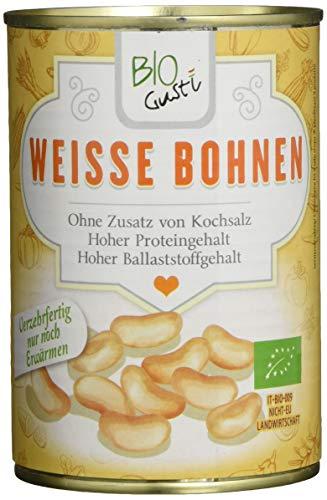 Bio Gusti Weisse Bohnen, 6er Pack (6 x 400 g)