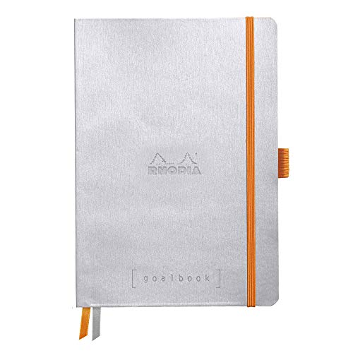Rhodia Goalbook Journal, A5, Dotted - Silver