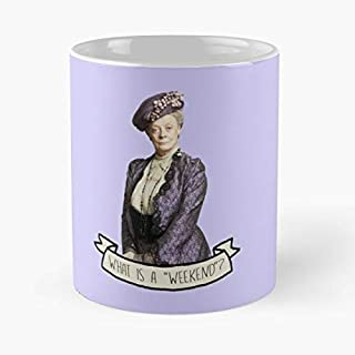 Downton Abbey England Uk Long Coffee Mugs Unique Ceramic Novelty Cup