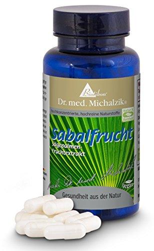 Sabal efter Dr. med. Michalzik - Serenoa repens, frukt av sågpalmetto högkvalitativt sabalfruktextrakt utan tillsatser, 120 kapslar