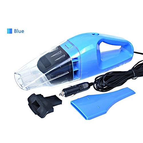 LZQpearl Draagbare autostofzuiger, 12 V handstofzuiger, krachtige stofzuiger, nat-/droogzuiger, met 5 m netsnoer, keuze uit 3 kleuren blauw