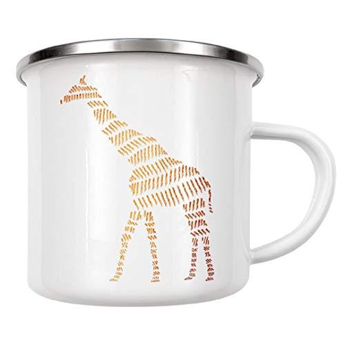 artboxONE Emaille Tasse Giraffe von Dunja Krefft - Emaille Becher Tiere