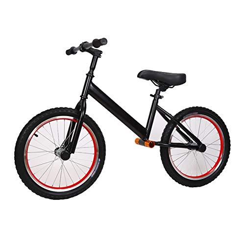 HYDT Bicicletas Pedales Bicicletas de Equilibrio para Niños de 18 Pulgadas para Niños Grandes, Niños/Adolescentes, Bicicleta de Entrenamiento Sin Pedales con Asiento Ajustable en Altura