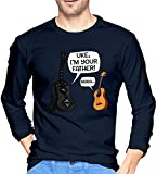 Ljkhas2329 Uke I Am Your Father Funny Guitar and Ukulele Pun Joke Men's Long Sleeve T-Shirts,Long Sleeve T-Shirts for Men's XXL