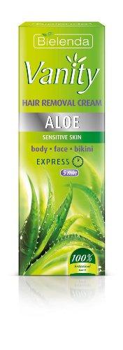 VANITY, aloès, crème épilatoire pour peaux sensibles, corps, visage, zone bikini, Bielenda