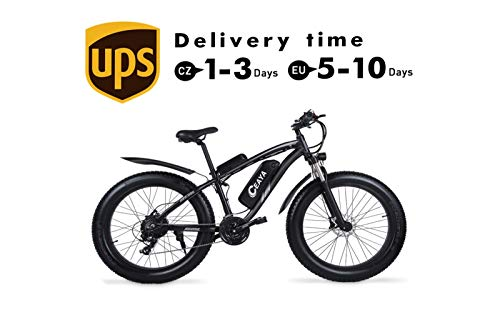 "Ceaya Electric Bikes 1000W 48V Fat 26 ""4.0 Tires E-Bike Electric Mountain Bike with Back Seat"
