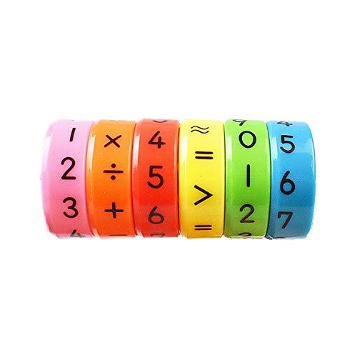 rongweiwang Números Matemáticas Aprendizaje Cilindro magnético Juguetes de Aprendizaje Cilindro Juguetes Kinder Educación Inteligencia aritmética Juguetes