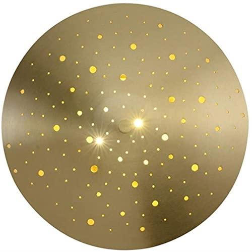 dh-18 Apliques de Pared Lámpara de Pared Dormitorio Minimalista Moderno Lámpara de Noche Lámpara de latón Pasillo Escaleras Personalidad Creativa 28CM * 28CM * 6CM