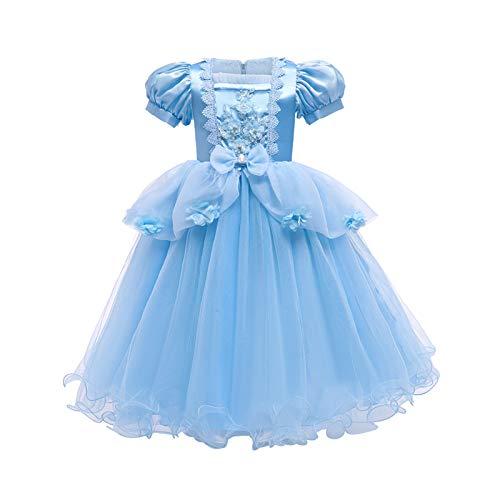 LOKKSI Rapunzel vestido enredado para niñas, disfraz de princesa para niños, vestido de princesa para bebé, vestido de fiesta, vestido para bebé, vestido de Halloween, cumpleaños o cosplay