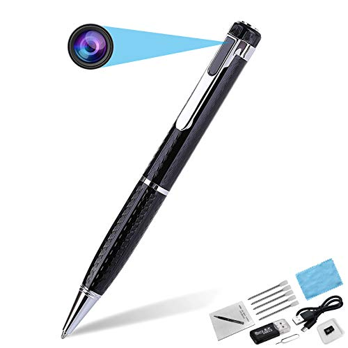 Hidden Spy Camera Pen, Full 1080P Video Recording Rechargeable Mini Camera Pen with 32GB Memory Card for Business, Conference, Security