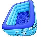 Las piscinas de la familia rectangular inflable de la piscina inflable piscina para niños del bebé de natación para niños piscina inflable para Kiddie, niños Easy Set piscina del patio trasero para