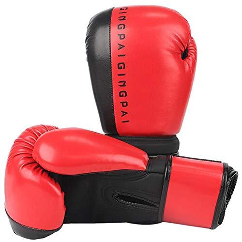 Kinder Boxhandschuhe Set 6oz 8oz 10oz | Kinderhandschuhe | MMA Handschuhe | Damen Boxhandschuhe | Junior Boxhandschuhe | Muay Thai Taekwondo Sanda Kampf | Rot schwarz weiß blau