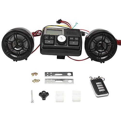 SyeRum Sicherheitsalarm Motorrad MP3 Player 12v Motorrad Roller Lautsprecher mit Bildschirm Audio und ferngesteuert Wasserdicht Diebstahlwarnanlage