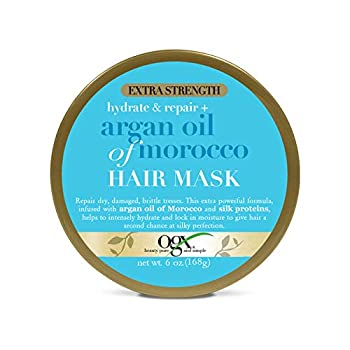 OGX Extra Strength Hydrate Repair + Argan Oil of Morocco Hair Mask Deep Moisturizing Conditioning Treatment Citrus 6 Ounce