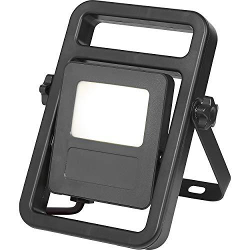 LED-Baustrahler tragbar 10 W EEK: A+   Baulampe mit Aufstellbügel und schwenkbarem Leuchtkopf