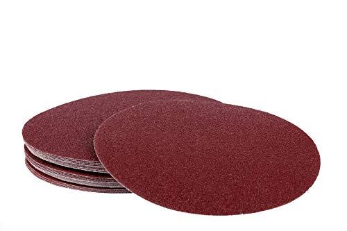 50 Blatt Klett Schleifscheiben - Ø 225 mm ohne Loch - Mix Paket jeweils 10 x Korn 40/60/80/120/180 / Langhalsschleifer/Schleifgiraffen