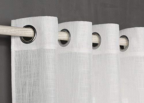 PimpamTex Cortina con 8 ollao (1 Unidad X 140x260) translucida para salón, habitación y Dormitorio. Modelo Susan (Natural)