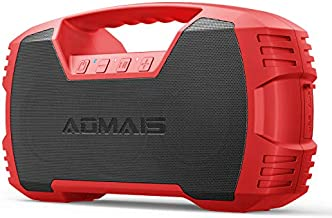 AOMAIS GO Bluetooth Speakers,Waterproof Portable Indoor/Outdoor 40W Wireless Stereo Pairing Booming Bass Speaker,40-Hour Playtime with 10000mAh Power Bank,Durable for Home Party,Camping-2020 New(Red)