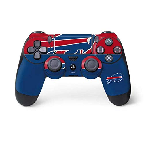 Skinit Decal Gaming Skin for PS4 Controller - Officially Licensed NFL Buffalo Bills Zone Block Design