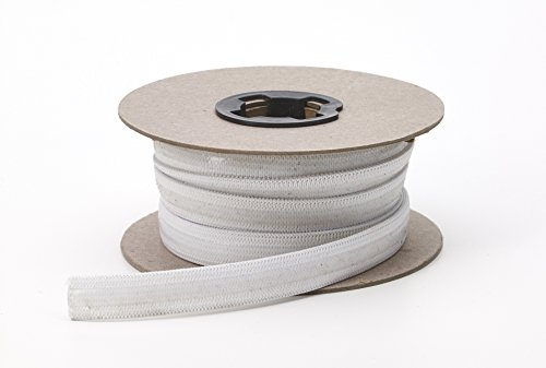 PEARL .5' Wide Non Skid Clear Silicon Elastic, 10 yd, White