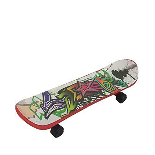 TopHGC Griffbrett, Plastik Mini Finger Skateboard, lustiges Roller Skate Brettspiel Spielzeug, Fingerspitzenbewegung perfekt für Kinder Party Kinder Geschenk, zufällige Farbe