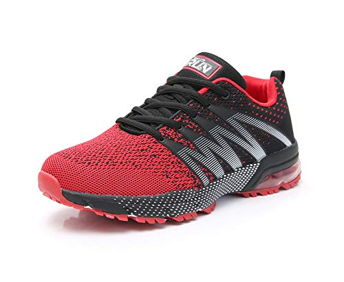 Axcone Mens Running Tennis Shoes Soft Insole Casual Walking Athletic Training Sports Jogging Sneakers 8995rd46 Red