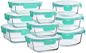 18-Piece Bayco Glass Food Storage Containers with Lids