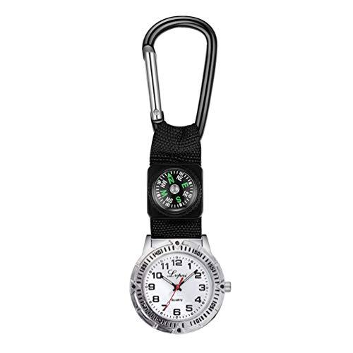 Hemobllo Fob Watch Nurse Watch Quartz Clip on Watch Hanging Medical Pocket Watch for Men Women Girls Doctor (Black)