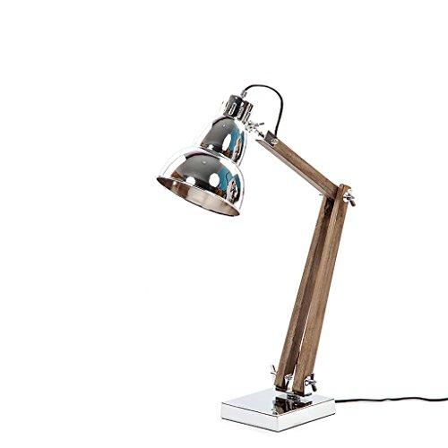 YONGJUN Lampes De Table En Fer Forgé - Lampes Décoratives, Lampes Industrielles, Éclairage De Bras Pliant Réglable En Bois