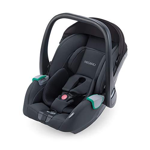 RECARO Kids, Babyschale Avan, i-Size 40-83 cm, Babyschale 0-13 kg, Kompatibel mit der Avan/Kio Base (i-Size), Verwendung mit Kinderwagen, Einfache Installation, Hohe Sicherheit, Select Night Black