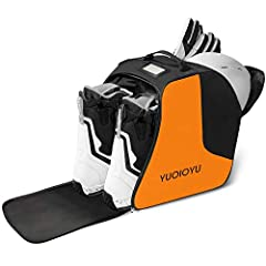 "Size:14.56""**8.67""15.76""/Volume: 40L. Fits ski boots or snow boots of any size-sure you can wear the boots. Lightweight & spacious - This YUOIOYU boot bag can serve very well for day trips as well as ski travel. The ski bag is designed with a signatu..."