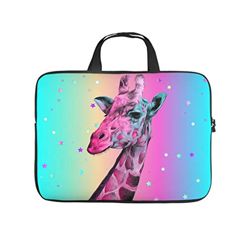 Giraffe Animal Tablet Carrying Case Waterproof High Capacity Zipper Multi-Functional Stationery 10-17 Zoll for Boys Girls White 10 Zoll