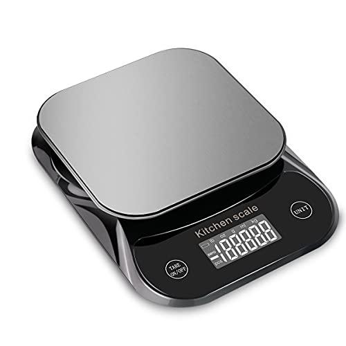 Bilancia da cucina digitale, Bilancia da cucina, Bilancia da cucina in acciaio inossidabile 5KG 0.1g MFEI 11LB Bilancia digitale da cucina Elettronica per alimenti Latte Verdure, Mini