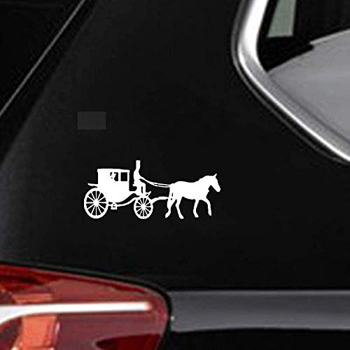 DKISEE Interessant Paard Vervoer Schaduw Decal Artistieke Decor Auto Sticker Leuke Auto Decal, 6 Inch Vinyl Decal voor Auto Bumper Truck Venster Muren Laptop Sticker